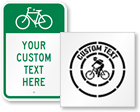 Custom Bicycle Signs