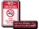 Custom Engraved Smoking Signs