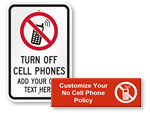 Create Your Own No Cell Phone Sign