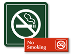 Engraved No Smoking Signs