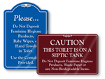 Feminine Hygiene Signs