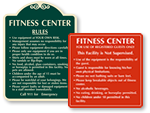 Fitness Center Rules Signs