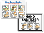 Handwashing Instruction Signs