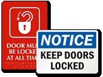 Lock Door Signs