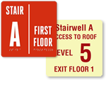 More Stairwell & Exit Signs