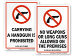 No Guns Signs by State