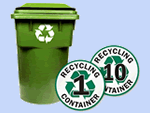 Recycling Bin Signs