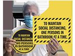 Social Distancing Signs for Bathroom