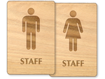 Staff Restroom Signs