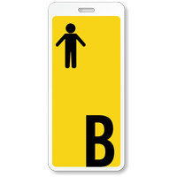 Boy Restroom Hall Pass ID with Symbol