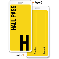 2-Sided School Student Hall Pass ID