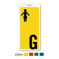 Girl Restroom Hall Pass ID with Symbol