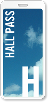 School Hall Pass ID with Blue Sky Design