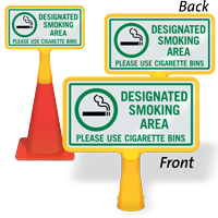 Designated Smoking Area ConeBoss Sign