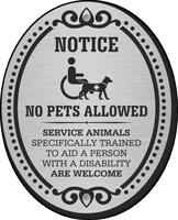 Notice No Pets Allowed DiamondPlate Door Sign