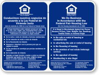 Bilingual Equal Housing Opportunity Sign