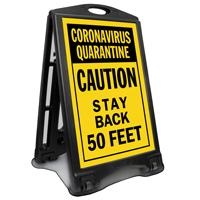 Coronavirus Quarantine BigBoss Sidewalk Sign