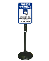 Freeze Warning Let Faucets Drip Open Sign Kit