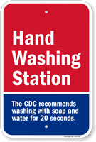 Hand Washing Station CDC Recommends Washing For 20 Seconds Sign