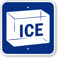 Ice Sign With Symbol