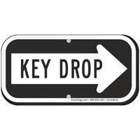 Key Drop Right Arrow Sign