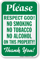 No Smoking No Tobacco No Alcohol Sign