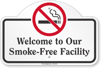 Smoke Free Facility Dome Top Sign