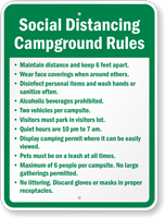 Social Distancing Campground Rules Custom Sign