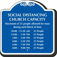 Social Distancing Church Capacity Custom Signature Sign