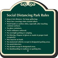 Social Distancing Park Rules Signature Sign