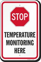 Stop Temperature Monitoring Here Social Distancing Sign