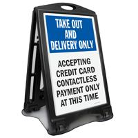 Take Out Delivery No Cash BigBoss Sidewalk Sign Kit