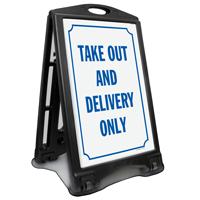 Take Out Delivery No Cash Sidewalk Sign Kit