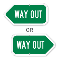 Way Out Directional Sign