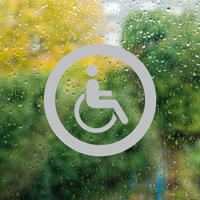 Accessible Symbol Glass Door Label