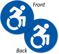 New Accessible Two-Sided Door Decals Symbol