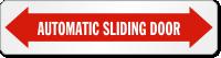 Automatic Sliding Door Label