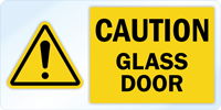Caution Vinyl Glass Door Awareness Decal