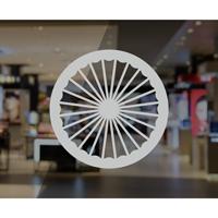 Circle Wheel Glass Door Awareness Decal