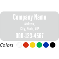 Custom Company Name and Address, Single-Sided Label