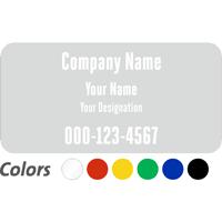 Custom Company Name and Designation, Single-Sided Label
