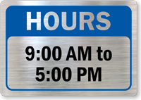 Custom Opening And Closing Hours Glass Decal