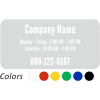 Customizable Company Name and Timing, Single-Sided Label