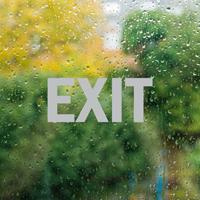 Exit Vinyl Die Cut Glass Window Decal