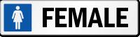 Female Restroom Label