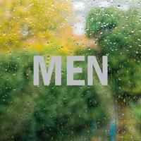 Men Vinyl Die Cut Glass Window Decal
