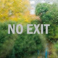 No Exit Vinyl Die Cut Glass Window Decal