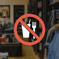No Food & Drink Symbol Label