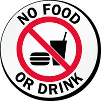 No Food or Drink Glass Door Decal