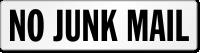 No Junk Mail Door Label